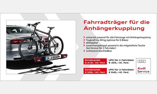 Foto des Zubehörangebots AUDI Fahrradheckträger für die Anhängerkupplung