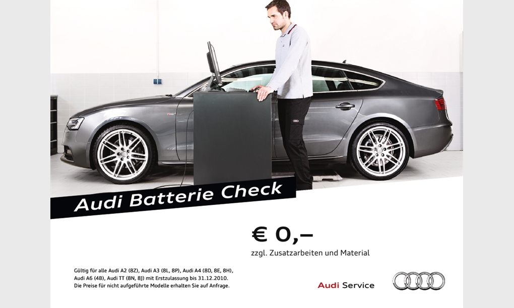 Audi Batterie Check