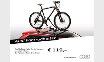 Foto des Zubehörangebots Audi Fahrradhalter