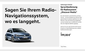 Foto des Zubehörangebots Sagen Sie Ihrem Radio- Navigationssystem, wo es langgeht.