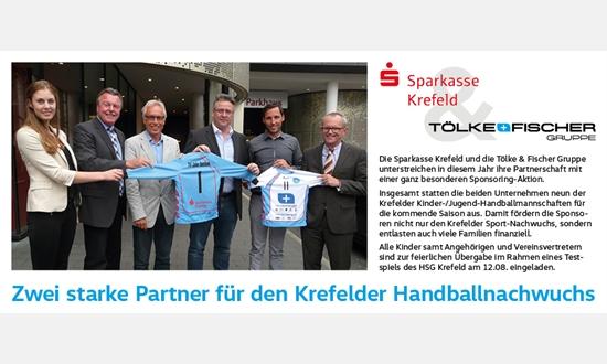 Foto der News Die Sparkasse & TöFi fördern den Jugendhandball in Krefeld