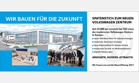 Foto der News Spatenstich am neuen Volkswagen Zentrum