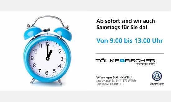 Foto der News VW Willich - ab sofort auch Samstags geöffnet