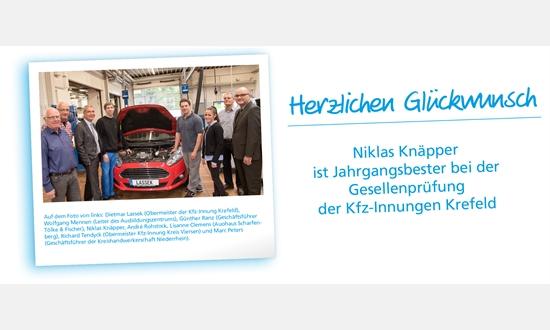 Foto der News Herzlichen Glückwunsch an Niklas Knäpper