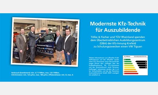 Foto der News Tölke & Fischer und TÜV Rheinland spenden VW Tiguan