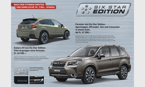 Foto der News SONDERMODELL SIX STAR EDITION