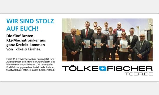 Foto der News Die fünf besten Kfz-Mechatroniker lernten alle bei Tölke & Fischer
