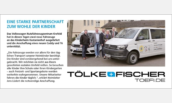 Foto der News Tölke & Fischer und das Kinderheim Kastanienhof