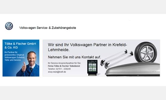 Foto des Zubehörangebots Ebay Shop des Volkswagen Zentrum Krefeld