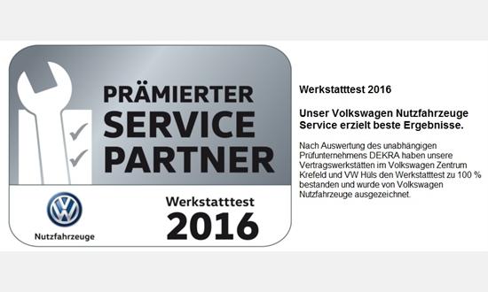 Foto der News Werkstatttest 2016 von VW Nutzfahrzeuge