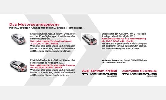 Foto des Zubehörangebots Audi Motorsoundsystem