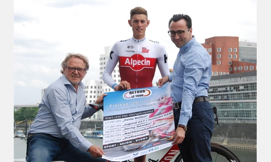 "Foto der News Nils Politt stellt Plakat zu ""Retour le Tour"" vor"