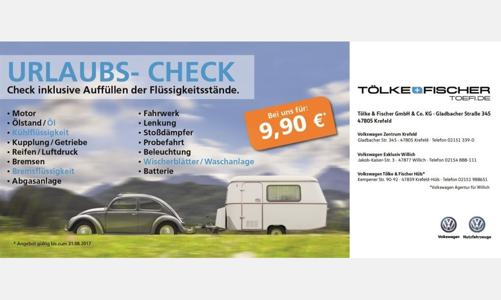 Urlaubs-Check bei Tölke & Fischer