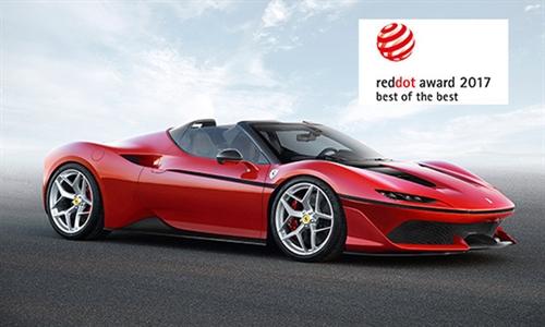 Foto der News Der Ferrari J50 erhält die höchste Auszeichnung beim Red Dot Award: Product Design 2017