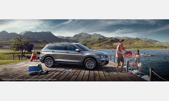 Foto des Serviceangebots Volkswagen Tiguan Allspace Trendline 1,4 l ab 255€ im Monat