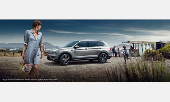 Foto des Serviceangebots Volkswagen Tiguan Allspace Trendline 1,4 l ab 221€ im Monat