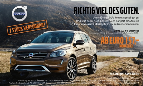 Foto der News Volvo XC60 Aktion