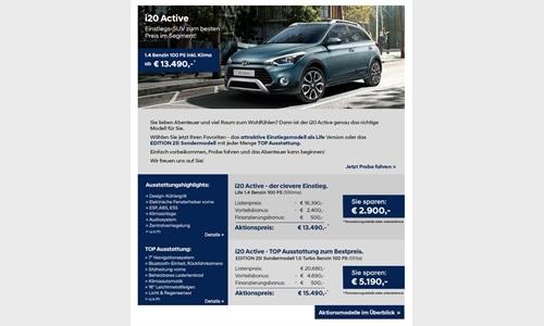 Foto der News Hyundai Aktionsmodelle - Der i20 Active